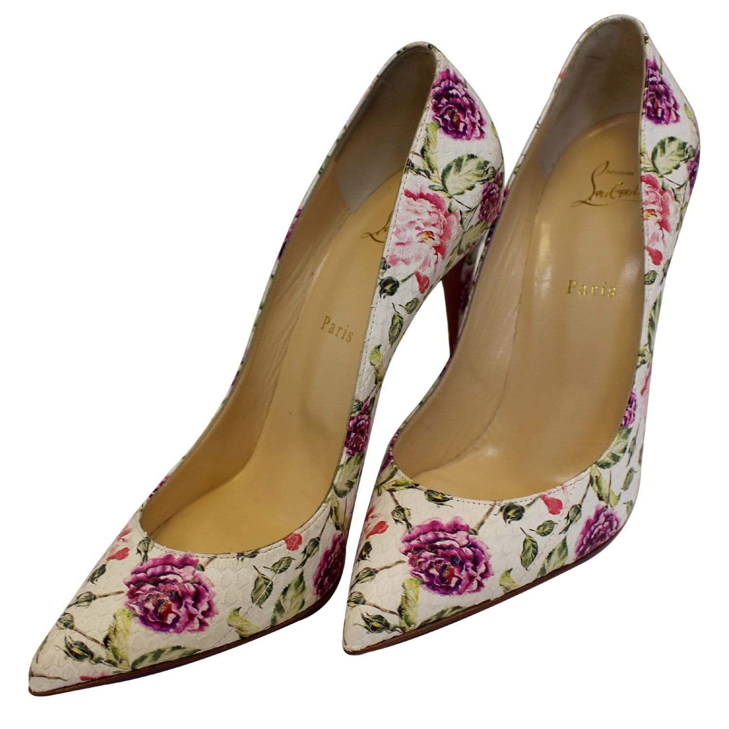 innovative design 657be 7aca4 CHRISTIAN LOUBOUTIN Pigalle Follies Watersnake Floral Pumps ...