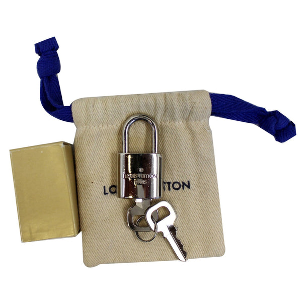LOUIS VUITTON Padlock and 2 Keys Silver Bag Charm Number 309
