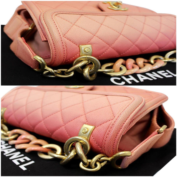 Chanel Sunset On The Sea Caviar Leather Small Flap in good condition