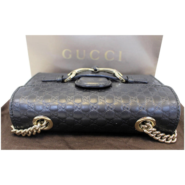 Gucci Shoulder Bag Emily Mini Micro GG Guccissima -front view
