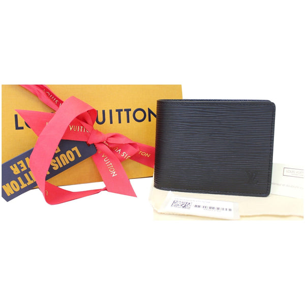 Louis Vuitton Slender - Lv Epi Leather Wallet Black - men's purse