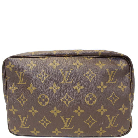 f9aaee68e4a3c LOUIS VUITTON Trousse Toilette 23 Monogram Canvas Cosmetic Pouch Brown