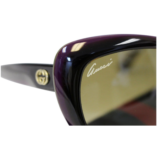 GUCCI Cat Eye Sunglasses 3510S Purple/Black