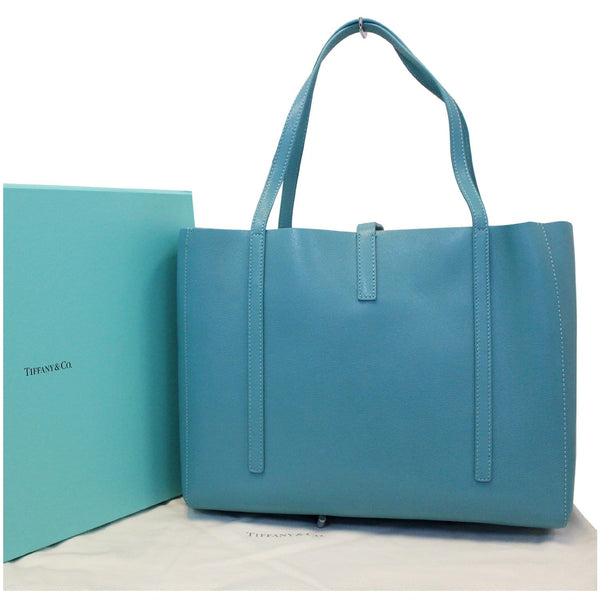 Tiffany & Co. Large Tiffany & Co. Textured Leather East West Tote Bag-US