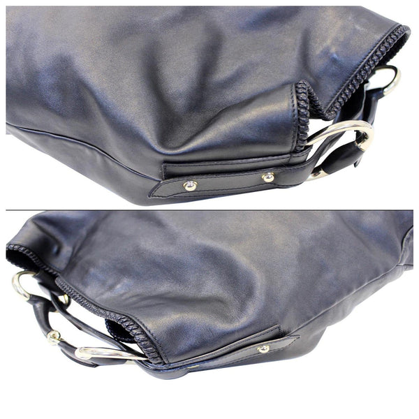 Gucci Hobo Bag Horsebit Large Black Leather - side view