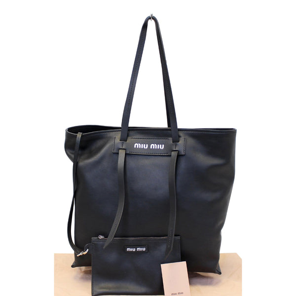 Miu Miu Patch Medium Grace Lux Tote Shoulder Bag - front view