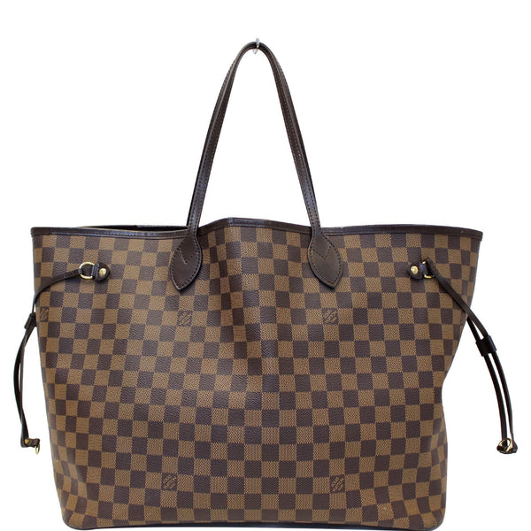 Louis Vuitton Neverfull GM Damier Ebene Tote Shoulder Bag