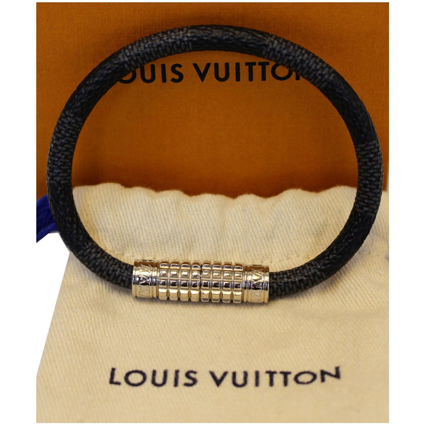 Louis Vuitton Damier Digit Graphite Bracelet Black for women