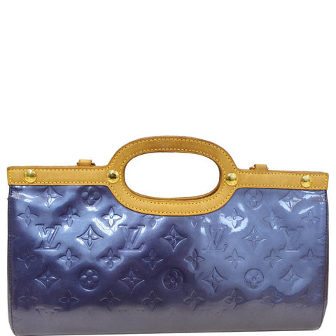 LOUIS VUITTON Roxbury Drive Monogram Vernis Clutch Bag Blue