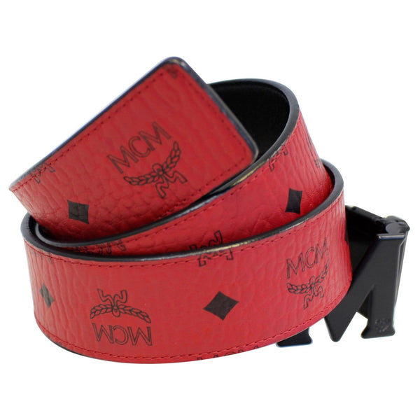 MCM Claus M Reversible Belt Red Size 42