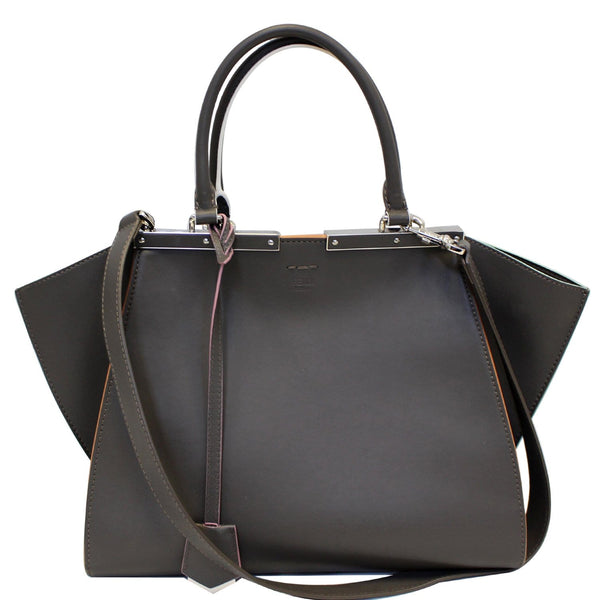Fendi Petite 3Jours Calfskin Leather Tote Bag Dark Grey