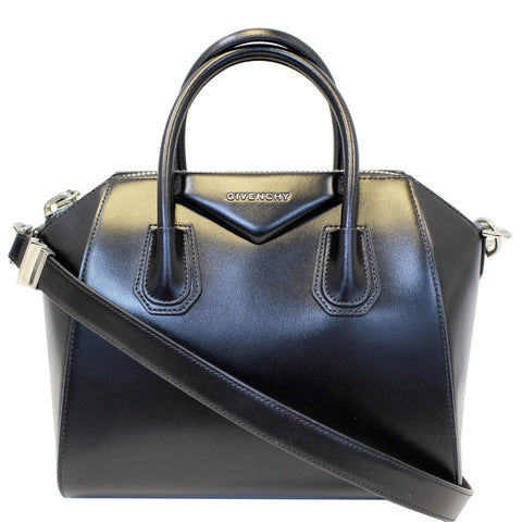 GIVENCHY Antigona Small Calfskin Leather Shoulder Bag Black