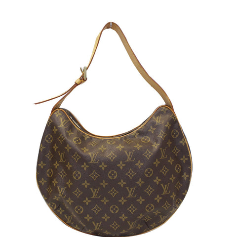 LOUIS VUITTON Croissant GM Monogram Canvas Shoulder Bag Brown
