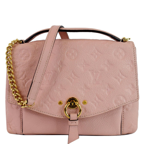 LOUIS VUITTON Blanche BB Empreinte Leather Shoulder Bag Rose Poudre