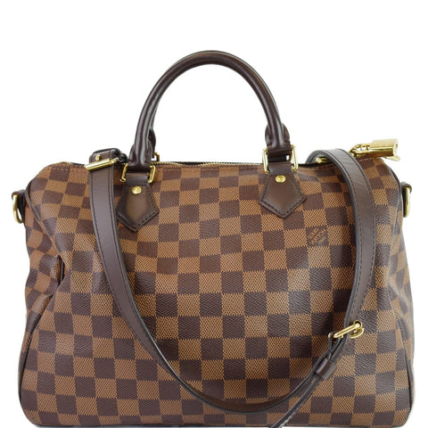 LOUIS VUITTON Speedy 30 Damier Ebene Shoulder Bag Brown