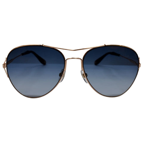 Givenchy GV 7005/S DDB 56 Pilot Copper Gold Sunglasses Blue Gradient Lens