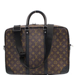 LOUIS VUITTON Porte Documents Voyage GM Macassar Briefcase Bag Brown