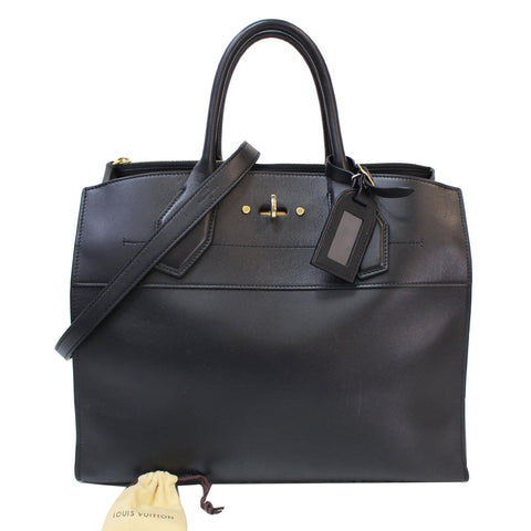 LOUIS VUITTON City Steamer GM Noir Black Leather Shoulder Bag