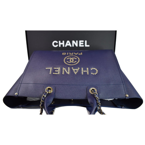 Chanel Deauville Studded Caviar Shoulder Bag