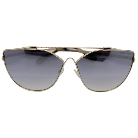 Tom Ford FT0563 28C Jacquelyn Women Sunglasses Smoke Mirror Lens