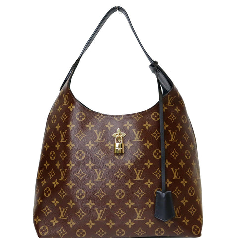 LOUIS VUITTON Flower Hobo Monogram Canvas Shoulder Hobo Bag Brown