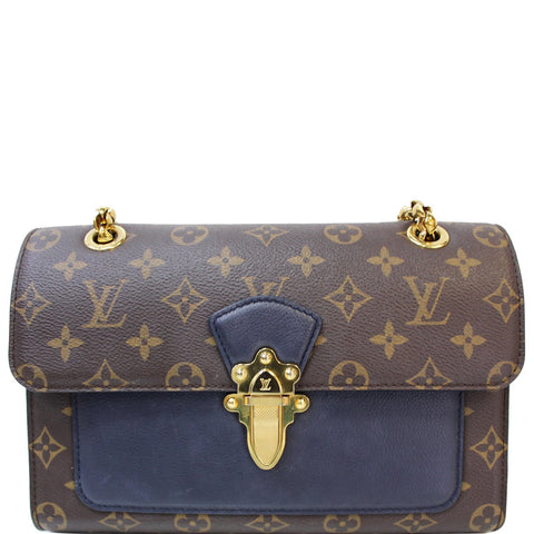 LOUIS VUITTON Victoire Monogram Canvas Shoulder Crossbody Bag Navy