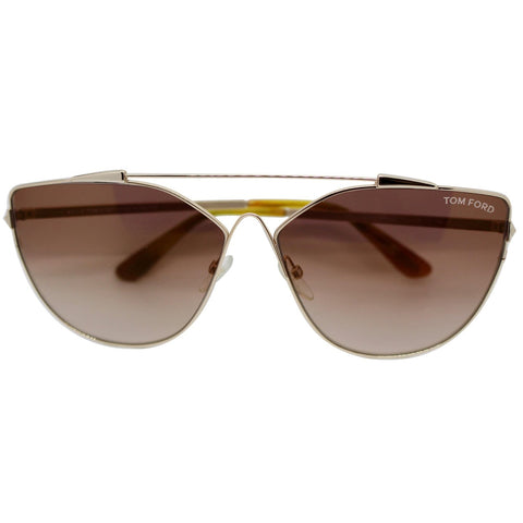 Tom Ford FT0563 28G Jacquelyn Women Sunglasses Brown Mirrored Lens