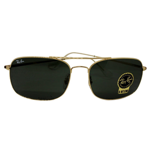 Ray-Ban Sunglasses RB3611 001/31 60 Gold Frame Green Lens