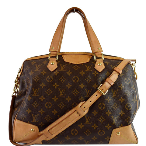 LOUIS VUITTON Retiro GM Monogram Canvas 2Way Shoulder Bag Brown