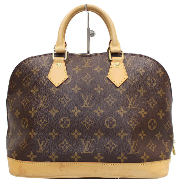 Louis Vuitton Alma Monogram Canvas Satchel Bag Brown -  corner