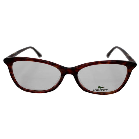Lacoste L2791 615 54 Women Red Striped Frame Eyeglasses Demo Lens