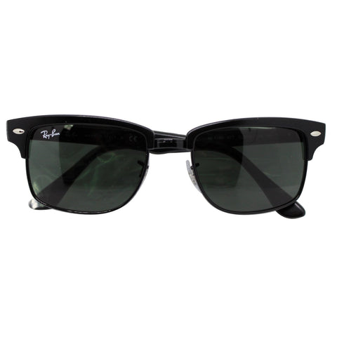 Ray-Ban Clubmaster Square Sunglasses RB4190 877 52 Black Frame Green Lens