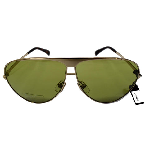 Givenchy GV 7128/S PEF Aviator Unisex Gold Sunglasses Green Lens