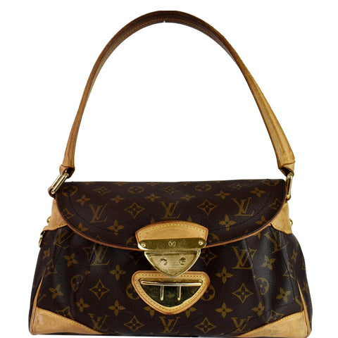 LOUIS VUITTON Beverly MM Monogram Canvas Shoulder Bag Brown