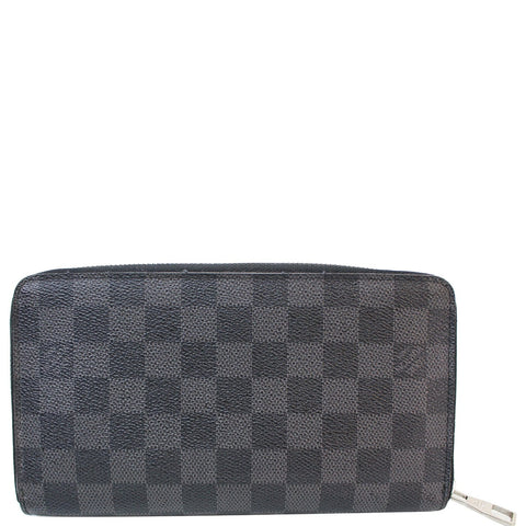 LOUIS VUITTON Zippy Organizer Damier Graphite Wallet Black