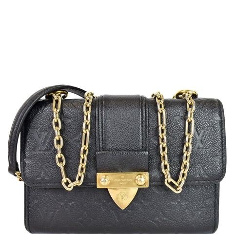 LOUIS VUITTON Saint Sulpice PM Empreinte Leather Crossbody Bag Noir