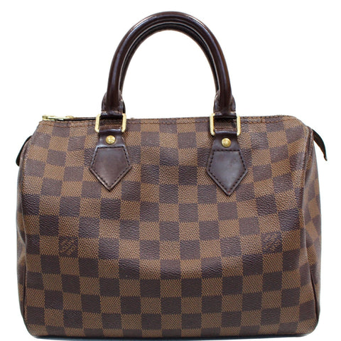 LOUIS VUITTON Speedy 25 Damier Ebene Satchel Bag Brown