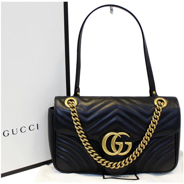 Gucci GG Marmont Matelasse Leather Crossbody Bag - front view