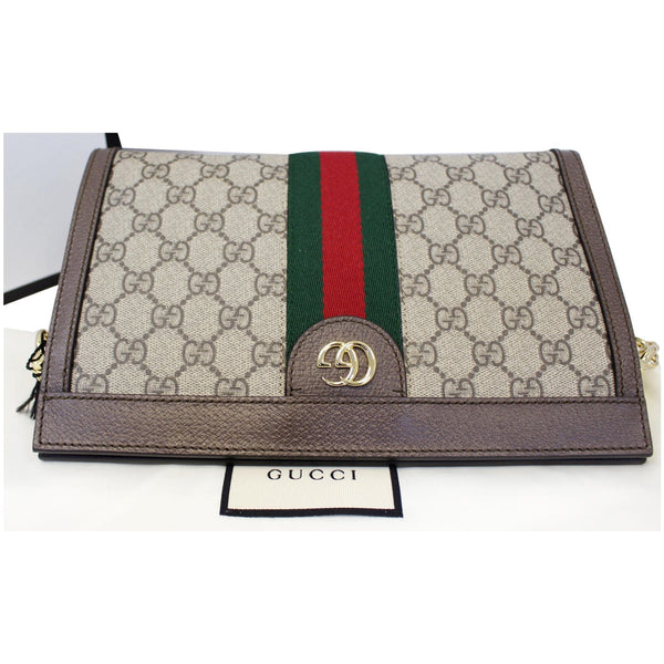 Gucci Ophidia GG Small Supreme Canvas Shoulder Bag Beige