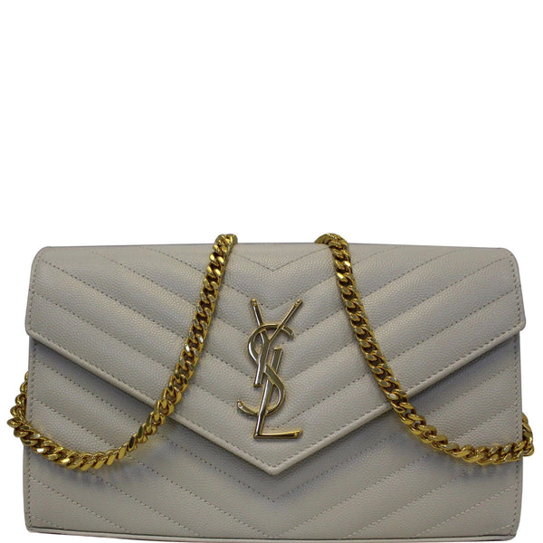 Yves Saint Laurent Wallet Chain Matelasse Chevron