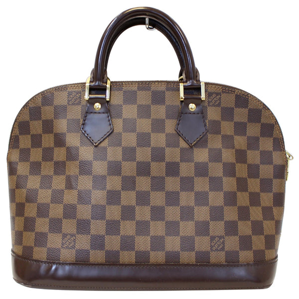 Louis Vuitton Alma PM Damier Ebene Satchel Bag - Front look