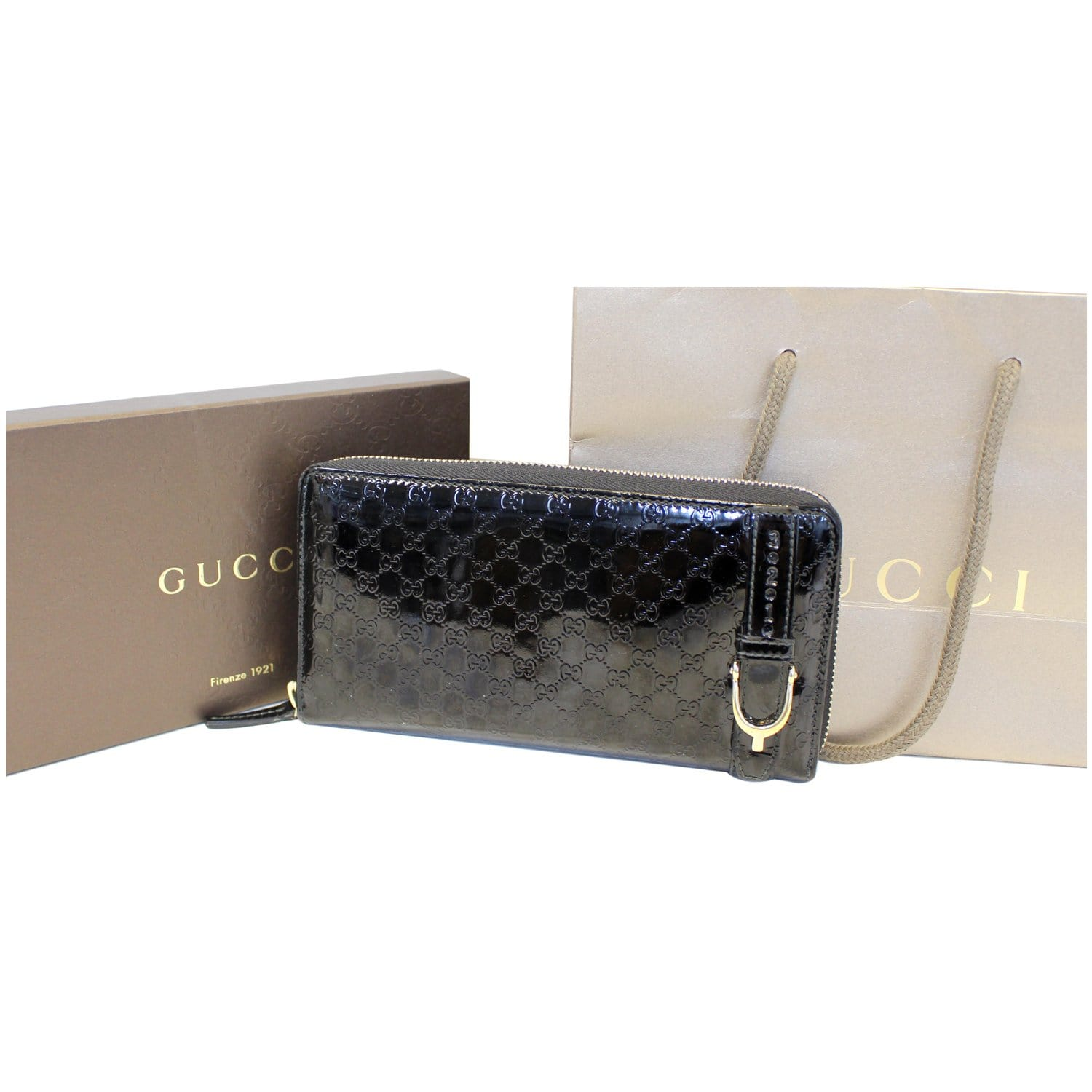 7526858a297 GUCCI Nice Microguccissima Patent Leather Wallet 309758-US