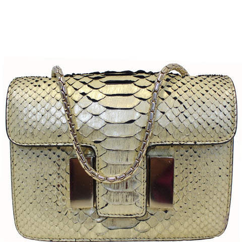 TOM FORD Sienna Python Chain Shoulder Bag Gold - 20% OFF