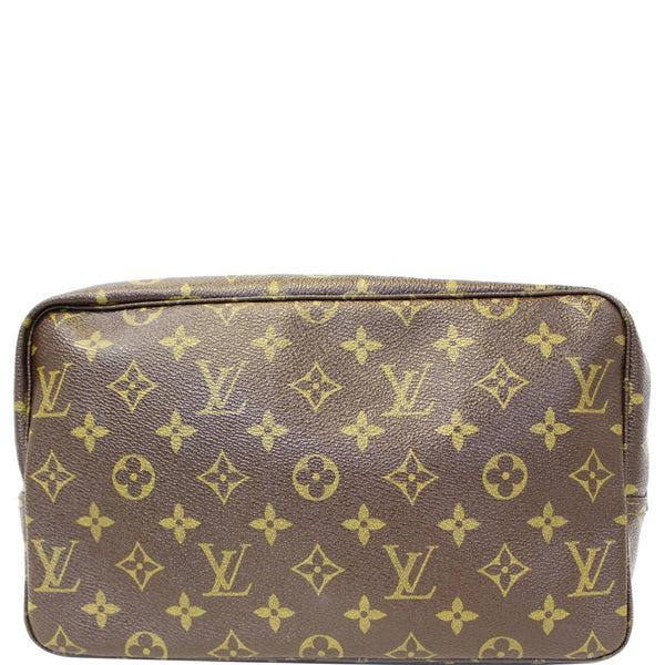 LOUIS VUITTON Trousse Toilette 28 Monogram Canvas Cosmetic Pouch Brown