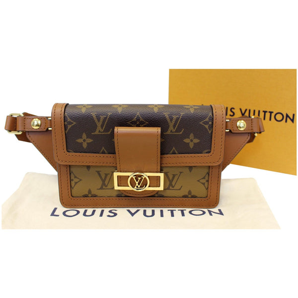 LOUIS VUITTON Dauphine Reverse Monogram Canvas Bumbag Bag Brown