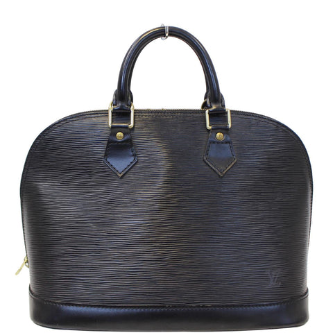 LOUIS VUITTON Alma Epi Leather Black Satchel Bag