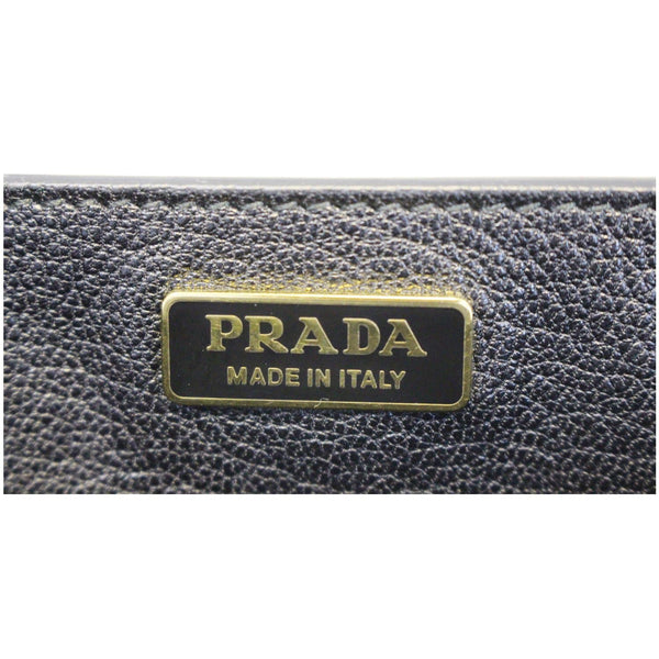PRADA City Calf Saffiano Leather Cahier Shoulder Bag Talco Nero-US