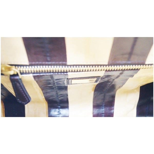 Fendi Peekaboo Striped Eel Skin Leather Bag - full view