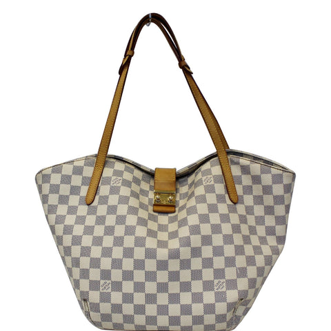 LOUIS VUITTON Salina PM Damier Azur Shoulder Bag White