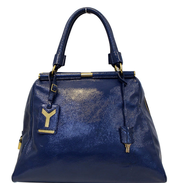 Yves Saint Laurent Majorelle Satchel Bag Leather Blue